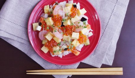 《水なすピクルス》の簡単ちらし寿司