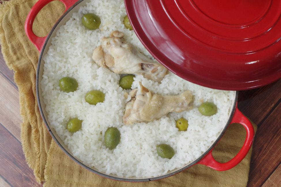 チキンとオリーブの炊き込みごはん