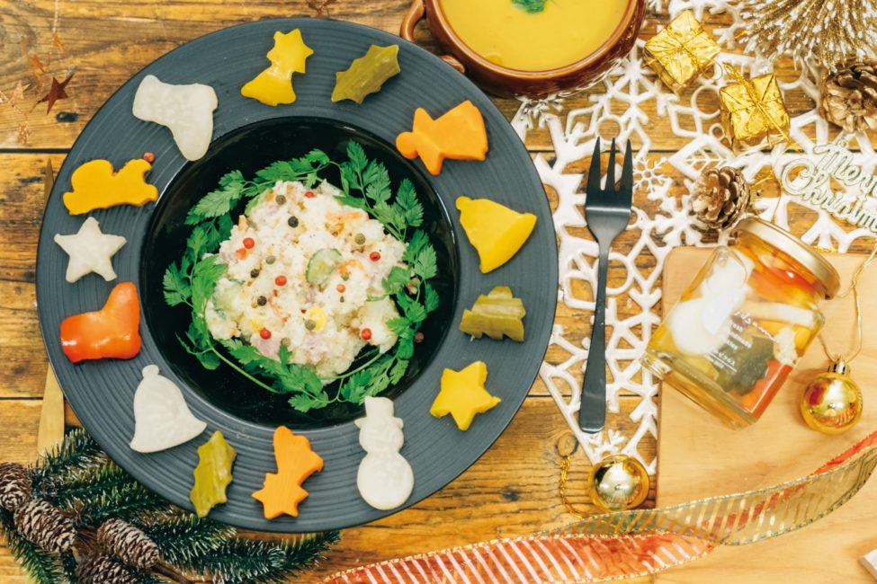 《クリスマスピクルス》のスペシャルポテトサラダ